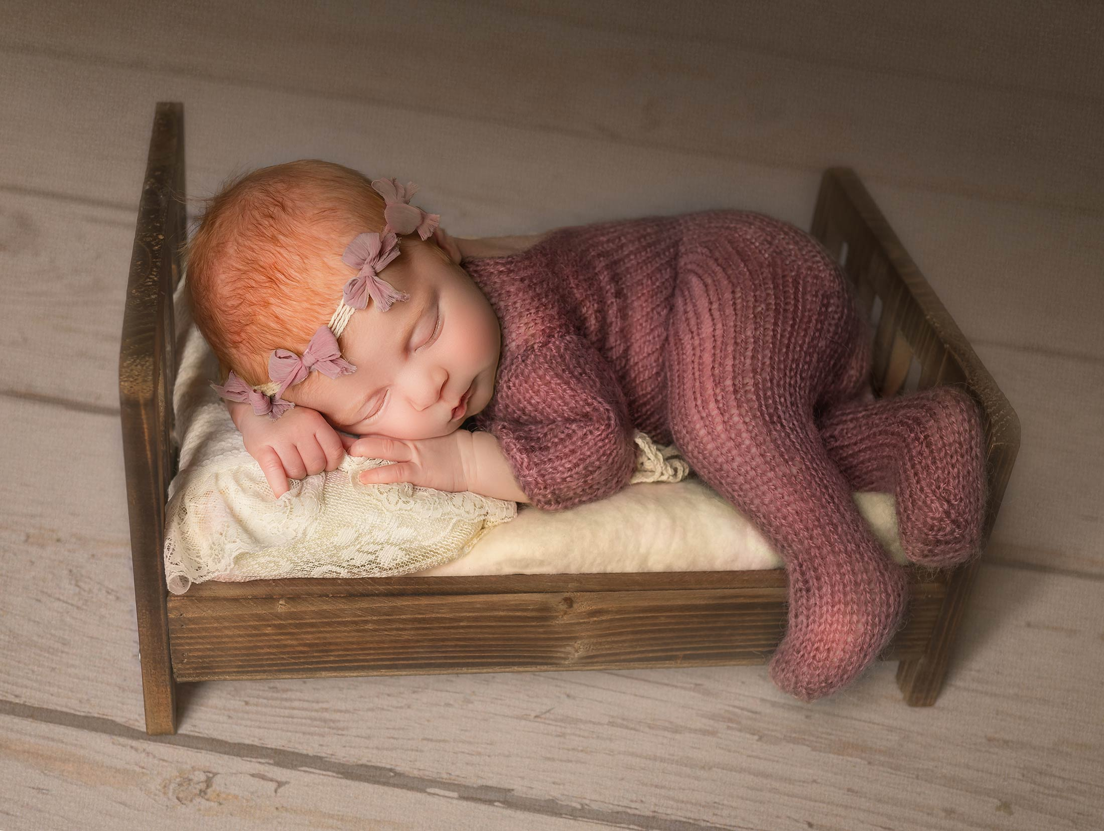 Newborn baby being photographed by New Born Photographer Moss & Ivy Photography | Geelong, Torquay, Jan Juc, Lara.