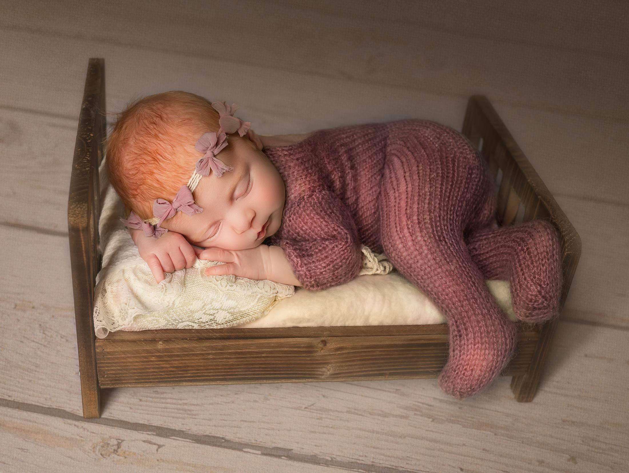 Newborn baby being photographed by New Born Photographer Moss & Ivy Photography | Geelong, Torquay, Jan Juc, Lara.
